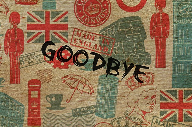 Time to say goodbye, Great Britain by author Cristina G.