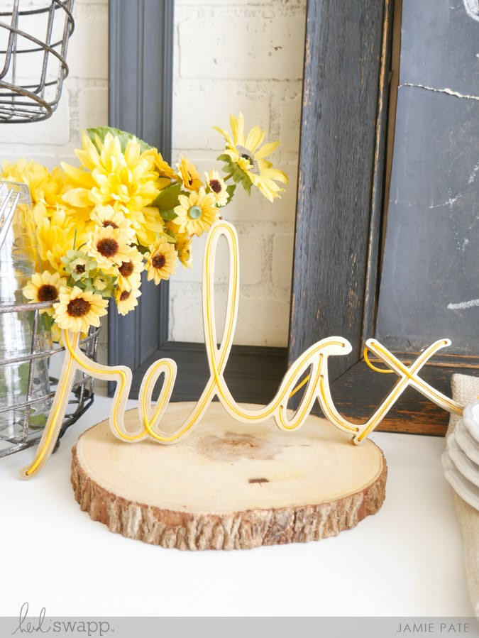 How To Relax with Heidi Swapp Neon Words by Jamie Pate | @jamiepate for @heidiswapp