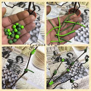 come realizzare foglie con il fimo