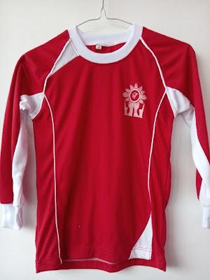 seragam olahraga pakaian olahraga baju senam kaos senam kaos jogging kaos olahraga lengan panjang baju lengan panjang kaos olahraga merah dari rakhma konveksi