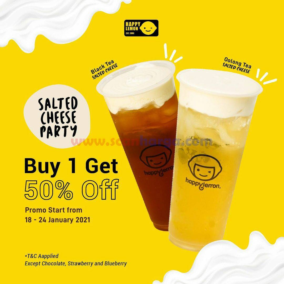 Promo HAPPY LEMON Buy 1 Get 50% Off