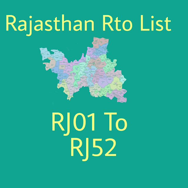 RTO Rajasthan: (2019) RJ RTO List With Code