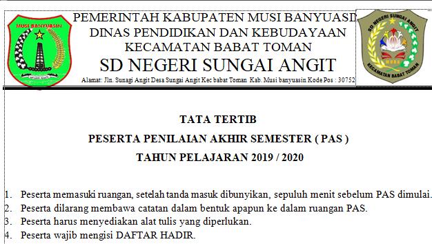 Tata Tertib UN/UASBN 2019-2020 - Wali Kelas SD
