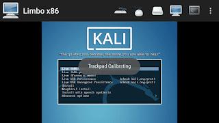 Running Kali Linux on limbo PC emulator