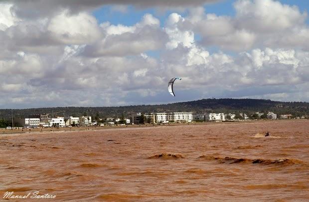 Essaouira, kite-surf sull'oceano