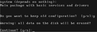Peringatan penghapusan semua data di harddisk