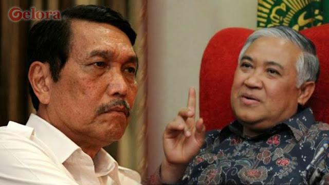 Din Syamsuddin Bela Said Didu Hadapi Luhut: Penguasa Angkuh akan Jatuh!