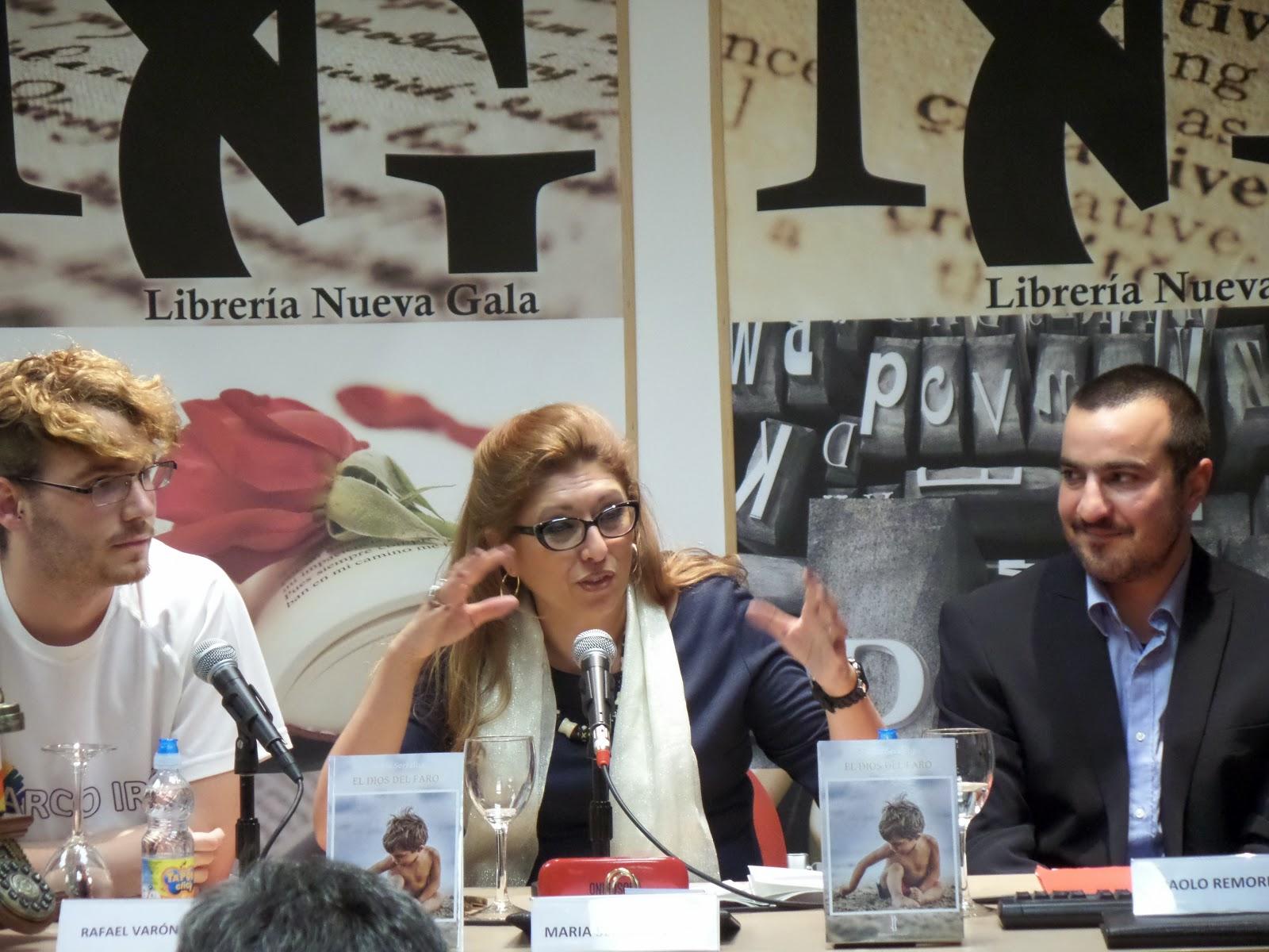 """El Blog de María Serralba - Presentación """"EL DIOS DEL FARO"""" Granada"""