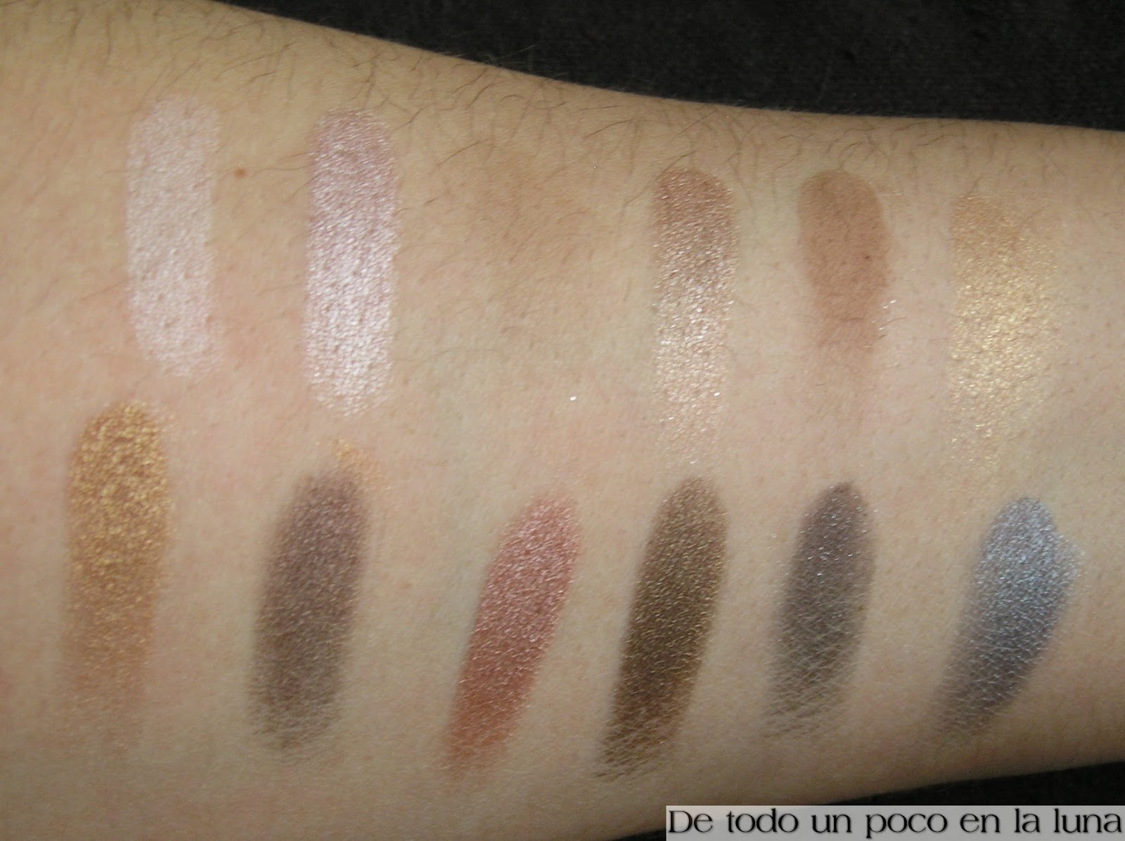 swatches paleta iconic 1 makeup revolution