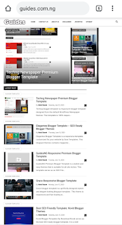 Guides Newspaper Blogger Template – 1Sec Fast Loading Theme