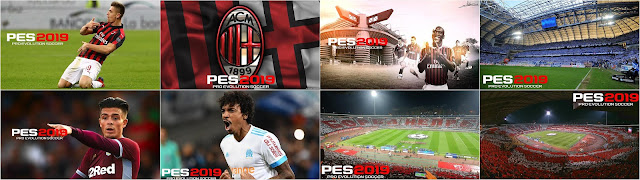 8 Startscreens For PES 2019 PC by Noor