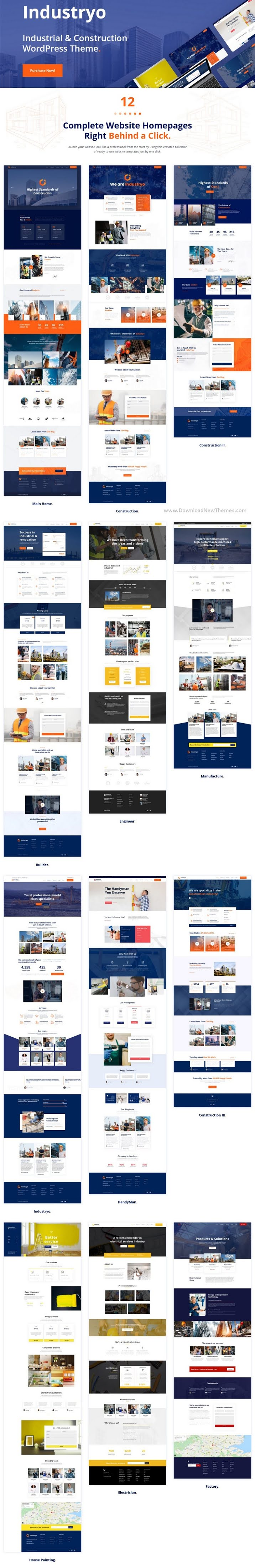 Industrial and Construction WordPress Theme