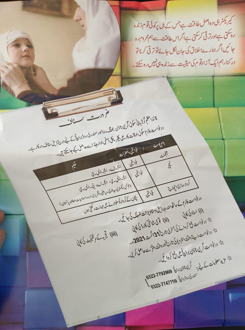 Quaid-e-Azam girls high school Gojra Jobs 2021