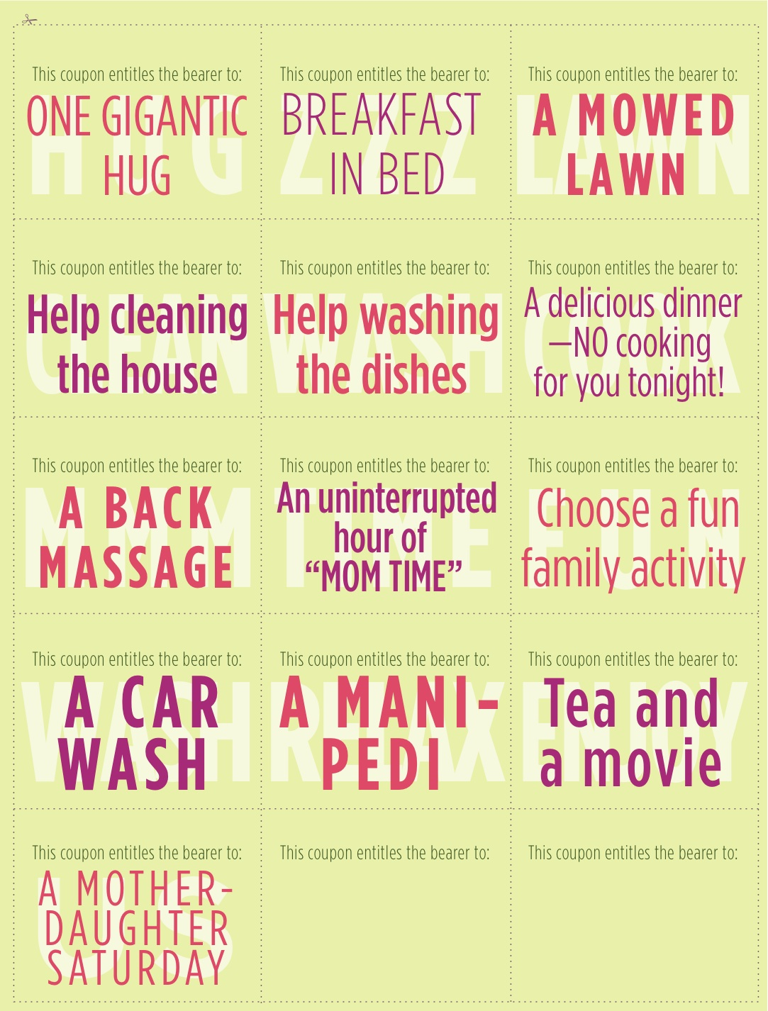 Cute Homemade Coupons For Mom Coupons Social Sharing