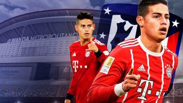 FÚTBOL: Real Madrid traspasó colombiano James Rodríguez al Atlético de Madrid por 50 millones de euros.
