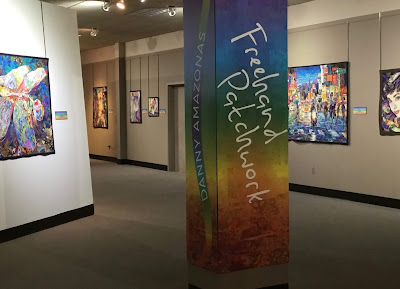 Danny Amazonas exhibit at National Quilt Museum