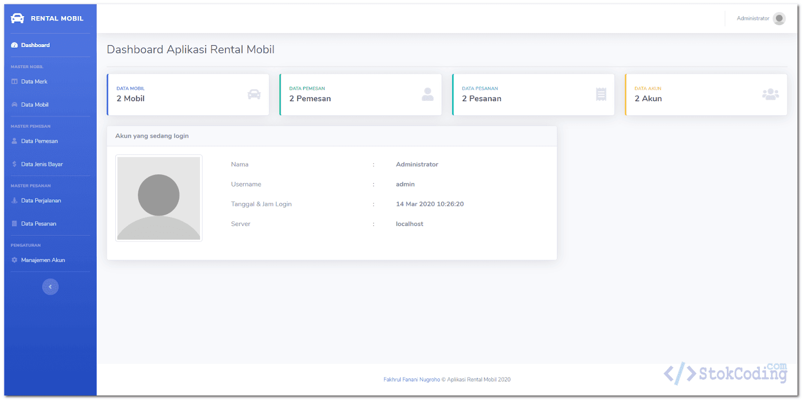 Aplikasi Rental Mobil Berbasis Web (PHP)