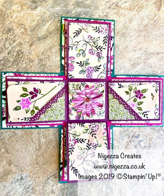 Nigezza Creates, InspireINK May Blog Hop:Stampin' Up!  Retiring Favourites, Share What You Love Exploding Cube Mini Album
