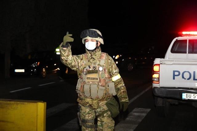 Марнеули и Болниси в строгом карантине - дороги туда перекрыты МВД и МО Грузии (фоторепортаж)