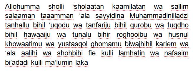 Teks Sholawat Nabi Lengkap Tulisan Arab Latin Dan