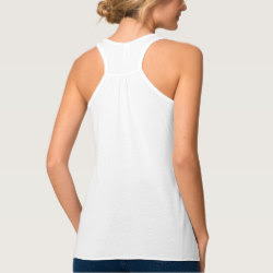 Custom Womens Flowy Racerback Fashion Tank Top - Back