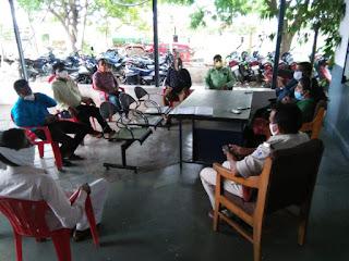 पुलिस थाना प्रांगण में शांति समिति की बैठक संपन्न हुई