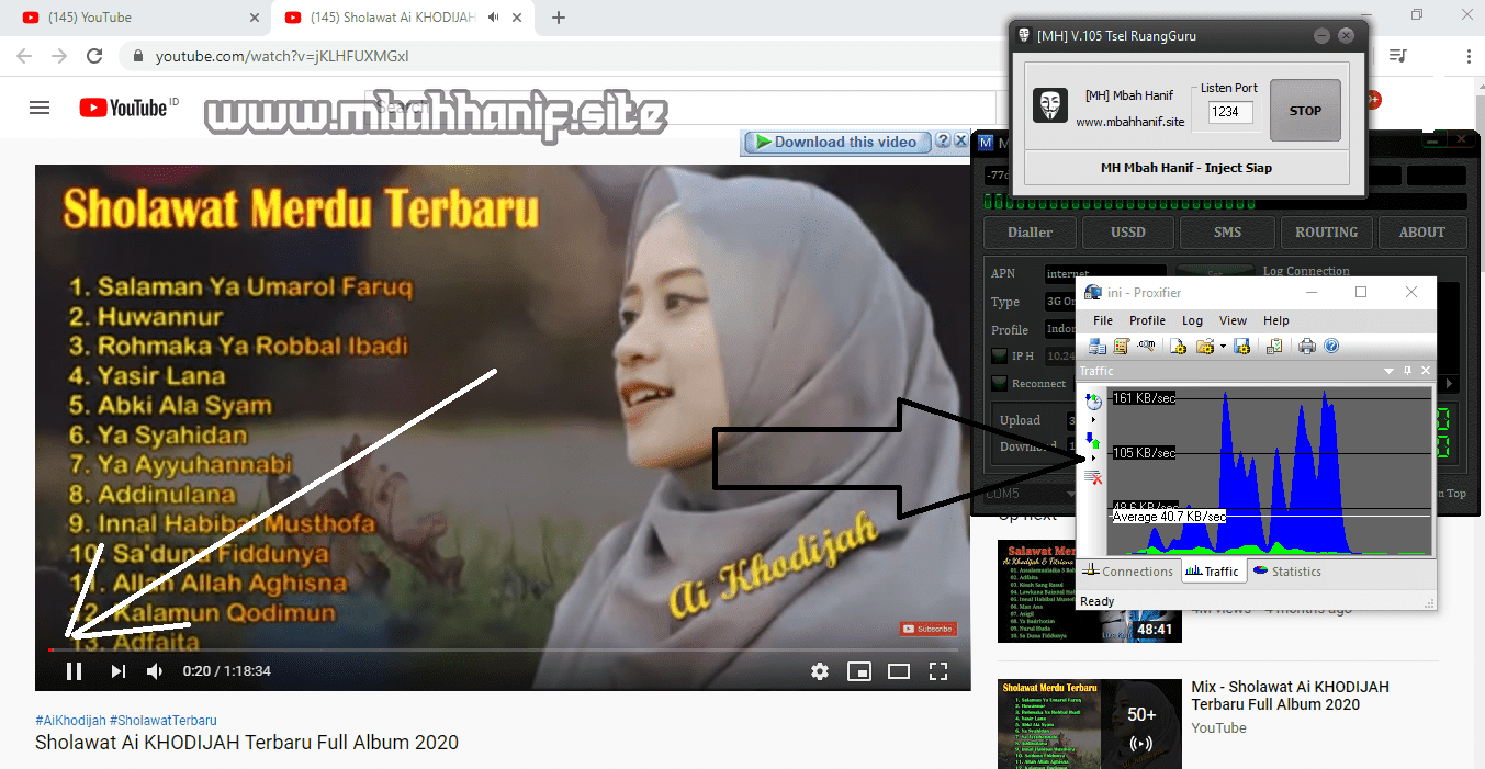 Proxifier dan youtube