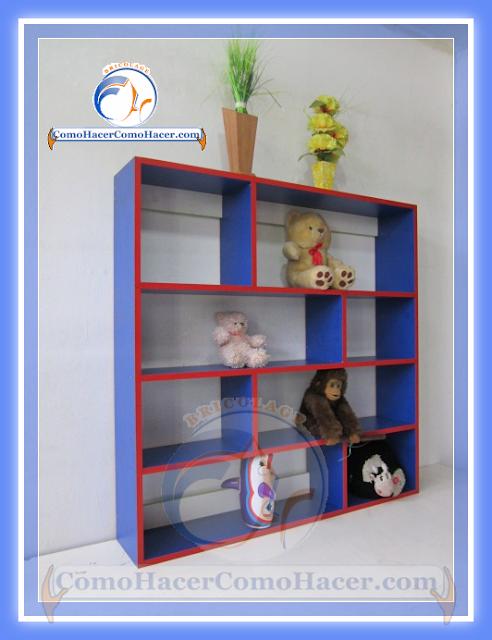 Bricolaje c mo armar estante de melamina web del for Mueble guarda juguetes