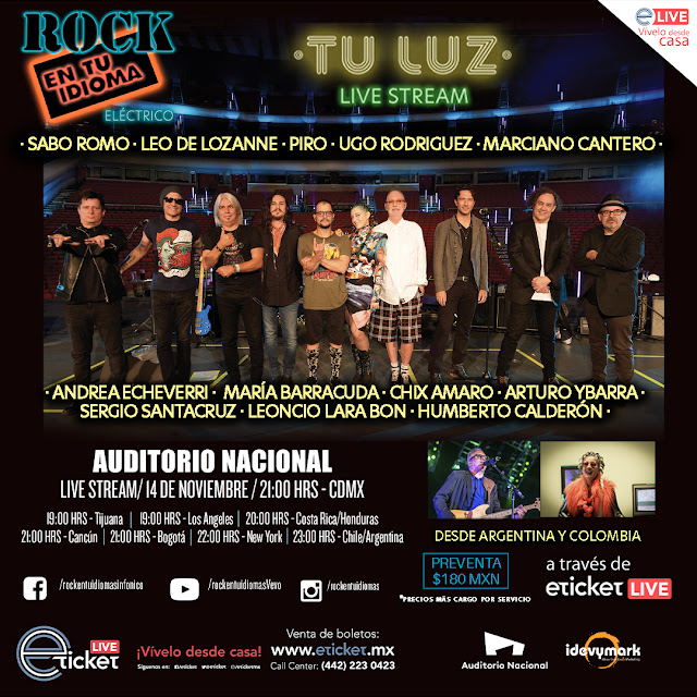 Vuelve Rock en tu Idioma al Auditorio Nacional en streaming