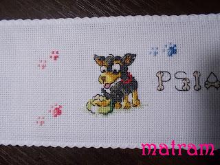 haft krzyżykowy pies