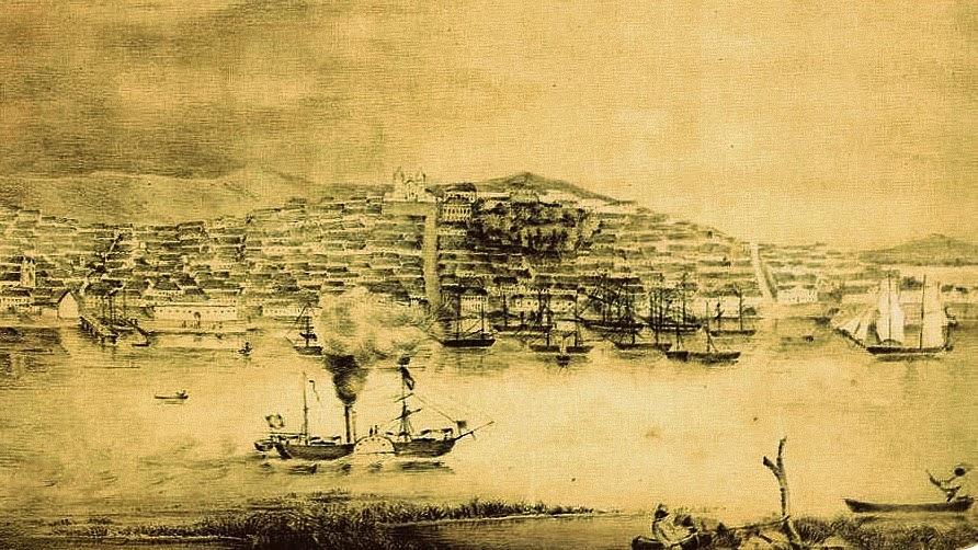 Centro de Porto Alegre em 1850