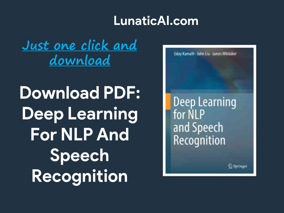 Deep Learning For NLP And Speech Recognition PDF Github