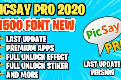 APK PREMIUM   Download Picsay Pro Bonus 5000+ Font – Mod Apk Full Unlocked dan Terbaru