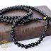 Tasbih Batu Akik Hitam Onyx 99 Butir : Rp 250,000