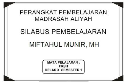 Download Silabus Fiqih Kelas 10 Semester 1 dan Semester 2 Kurikulum 2013 Terbaru