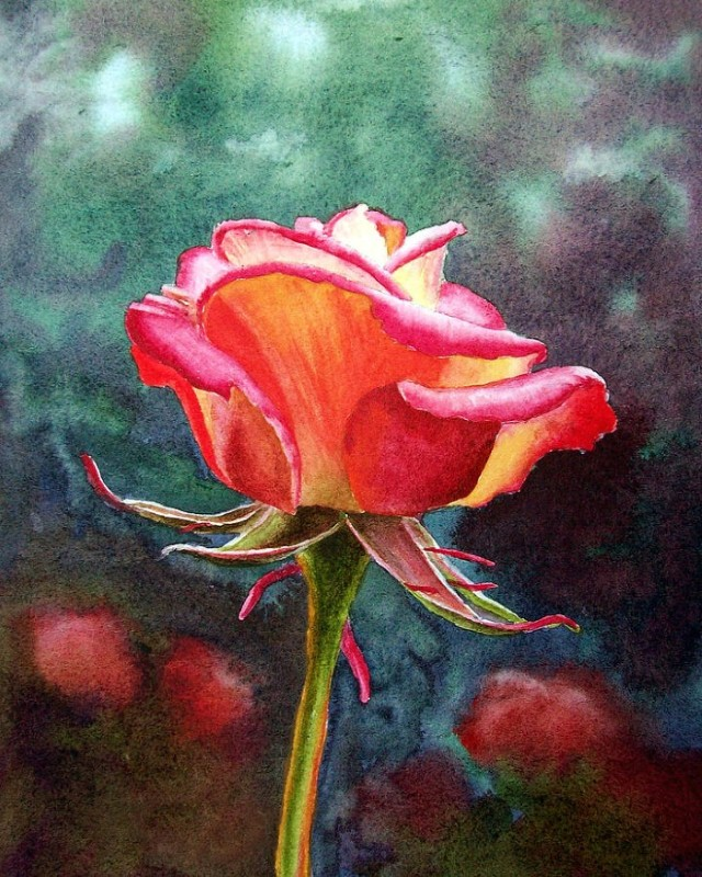 Цветы и цветочные натюрморты акварелью