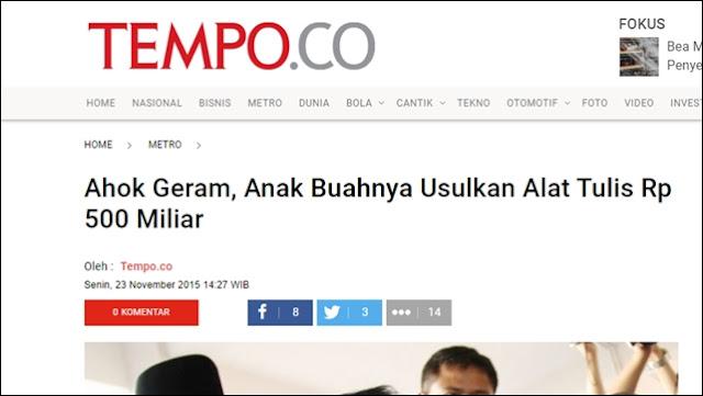 Anies 'Dihabisi' Gara-gara Aggaran Pulpen Rp123 M, Zaman Ahok Malah Rp500 M