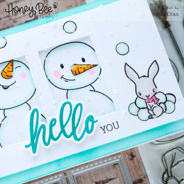 Honey Bee Stamps Deerly Loved Release Inspiration Week | Snow Buddies Cards by ilovedoingallthingscrafty.com