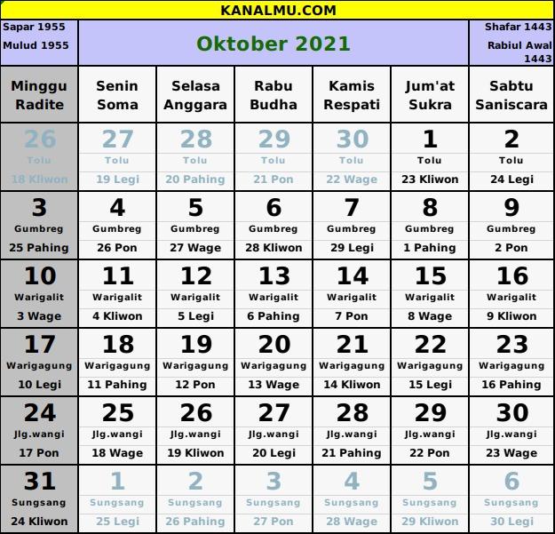 Download Kalender Nasional Dan Jawa 2021 / Jenis kalender ...