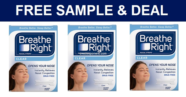 Breathe Right Free Sample & Deal at CVS