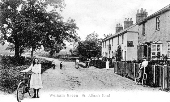 Photograph of Dellsome Lane, formerly known as St. Albans Road. Photograph by Geo. Knott. 1906