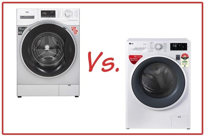 IFB Senator WXS (left) and LG FHT1006ZNW (right) Washing Machines.