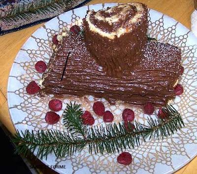 Bûche de Noël keto ( cétogène)