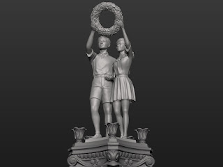 Sculptural composition of the upper pair - Boy and Girl - 1