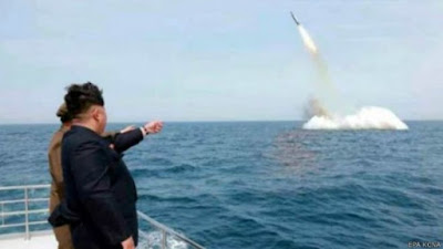 novos testes de misseis na coreia do norte- ONU