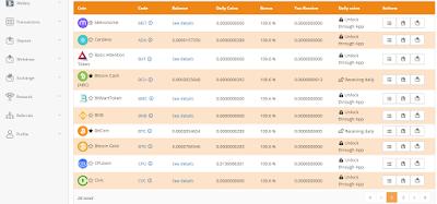 dashboard Qoinpro berisikan BTC dan altcoin lainnya dapatkan koin gratos tiap hari dengan meningkatkan level koin di Qoinpro