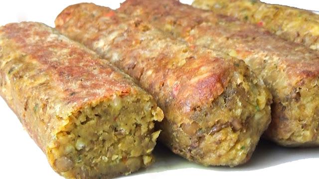 saucisses végétariennes, recette, rapide et facile, chef, katy's eats, vegetarien, vegetarian, sausage, végétal, fait maison, seitan, bbq, hot dog, lentilles, riz, harissa
