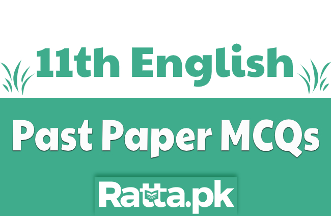 MCQs of English 1st Year with Answers from Past Papers pdf