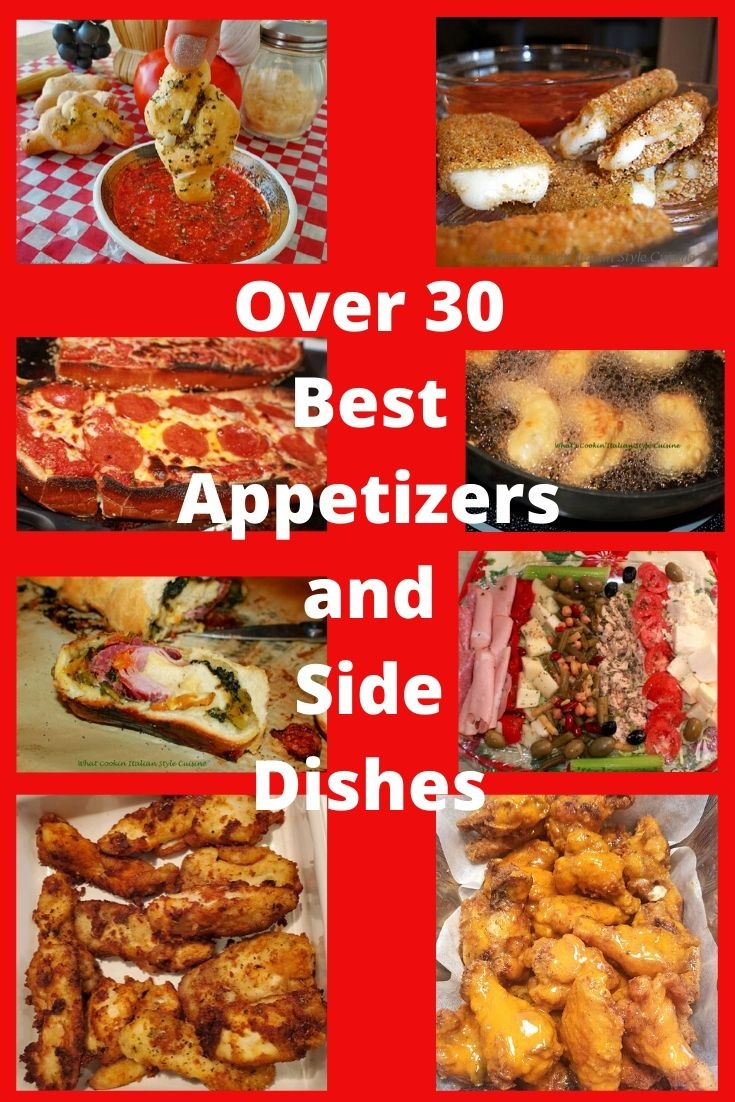 here are over 30 recipes for best appetizers from chicken wings to fried or roasted vegetable party finger  foods