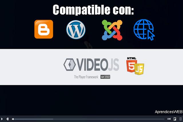 Reproductor Video.js Javascript y HTML5 - Portada